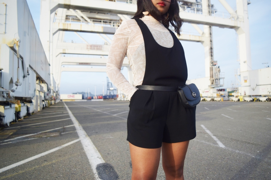 Fenty Beauty's Body Lava Product​​​ ​Review. Fashion and Lifestyle Blogger Steffanie Monae wearing, Topshop top, Forever21 Jumper, Wet Seal jacket and Steve Madden sandals!