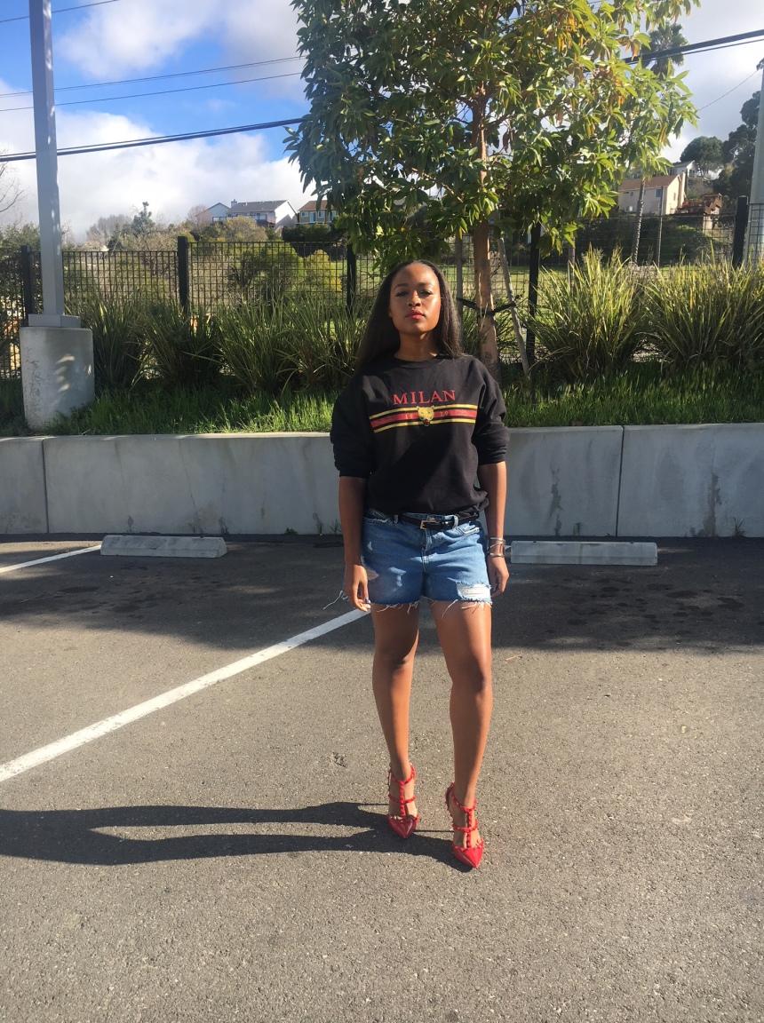 Topshop Denim Mom Shorts