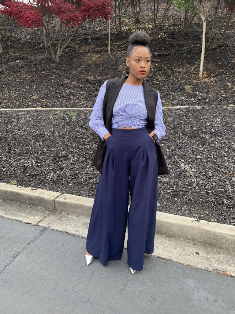 She Balls, Until Its Gone! The Dave Ramsey Budgeting System + Outfit inspiration. Wearing Zara womens top, Zara vest, Zara bag, Zara vest and wide leg trouser.